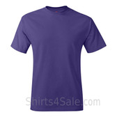 Purple Neck tag-free men's t shirt