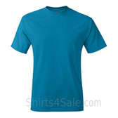 Teal Neck tag-free men's t shirt