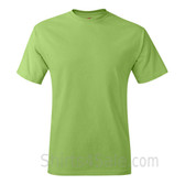 Lime Green Neck tag-free men's t shirt