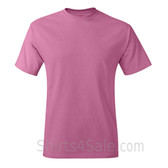 Pink Neck tag-free men's t shirt