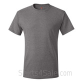 Charcoal Heather Neck tag-free men's t shirt