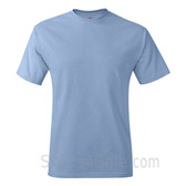 Light Blue Neck tag-free men's t shirt