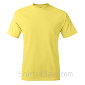 Light Yellow Neck tag-free men's t shirt