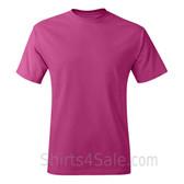 Hot Pink Neck tag-free men's t shirt