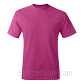 Hot Pink Neck tag-free men's t shirt