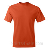Dark Orange Neck tag-free men's t shirt
