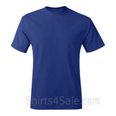 Deep Blue Neck tag-free men's t shirt