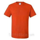 Dark Orange Heavyweight durable fabric men's tshirt