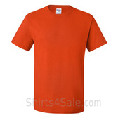 Dark Orange Heavyweight durable fabric men's tshirt