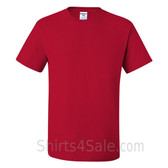 Red Heavyweight durable fabric men's tshirt