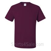 Maroon Heavyweight durable fabric men's tshirt