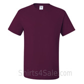 Maroon Heavyweight durable fabric men's tshirt
