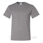 Gray Heavyweight durable fabric men's tshirt