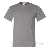 Gray Heavyweight durable fabric men's tshirt