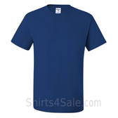 Blue Heavyweight durable fabric men's tshirt