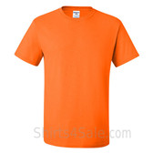 Orange Heavyweight durable fabric men's tshirt