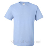 Light Blue Heavyweight durable fabric men's tshirt