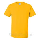 Yellow Heavyweight durable fabric men's tshirt