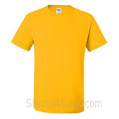 Yellow Heavyweight durable fabric men's tshirt