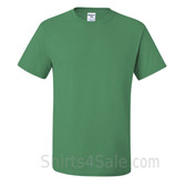 Green Heavyweight durable fabric men's tshirt