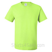 Neon Green Heavyweight durable fabric men's tshirt