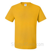 Gold Yellow Heavyweight durable fabric men's tshirt