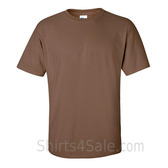 Brown Cotton mens t shirt