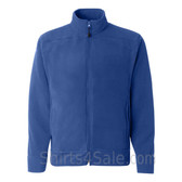 Blue Polar Fleece Jacket for Men with Full-Zip