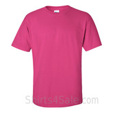 Hot Pink(Heliconia) Cotton mens t shirt