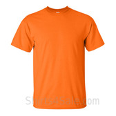 Safety Orange Cotton mens t shirt