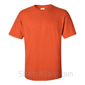 Dark Orange Cotton mens t shirt