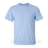 Light Blue Cotton mens t shirt