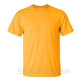 Gold Yellow Cotton mens t shirt