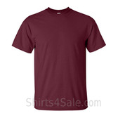 Maroon Cotton mens t shirt