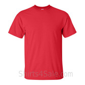 Red Cotton mens t shirt