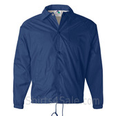 Blue Sports wear Coach's Snap Front Water-Resistant Jacket