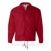 Red Sports wear Coach's Snap Front Water-Resistant Jacket