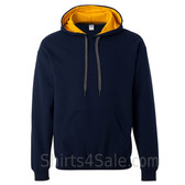Golden Yellow, Navy 2color Hoodie Sweatshirt