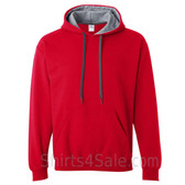 Gray, Red 2color Hoodie Sweatshirt