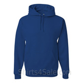 Jerzees NuBlend 50/50 Pullover Hood with Front Pocket - Blue