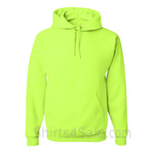 Jerzees NuBlend 50/50 Pullover Hood with Front Pocket - Safety Green