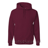 Jerzees NuBlend 50/50 Pullover Hood with Front Pocket - Maroon