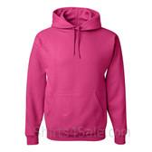 Jerzees NuBlend 50/50 Pullover Hood with Front Pocket - Hot Pink