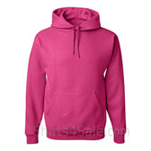 Jerzees NuBlend 50/50 Pullover Hood with Front Pocket - Hot Pink
