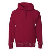 Jerzees NuBlend 50/50 Pullover Hood with Front Pocket - Dark Red
