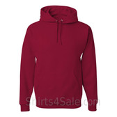 Jerzees NuBlend 50/50 Pullover Hood with Front Pocket - Dark Red