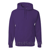 Jerzees NuBlend 50/50 Pullover Hood with Front Pocket - Purple