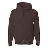 Jerzees NuBlend 50/50 Pullover Hood with Front Pocket - Dark Brown