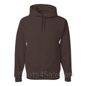 Jerzees NuBlend 50/50 Pullover Hood with Front Pocket - Dark Brown