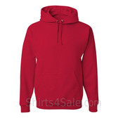 Jerzees NuBlend 50/50 Pullover Hood with Front Pocket - Red